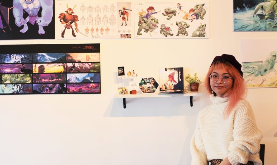 Jing Ouyang, Academy graduate who organized the exhibition