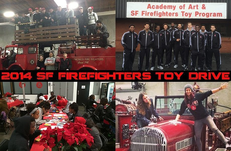 Academy Artist-Athletes Pitch in With SF Firefighters for the Holidays