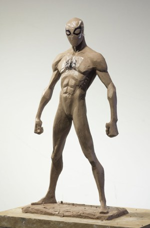"""The original maquette Blasich created for a character in """"Spider-Man: Into the Spider-Verse."""""""