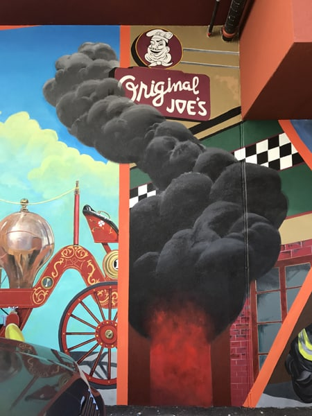 Alleycats Mural Celebrates Firefighters' Move to New Quarters