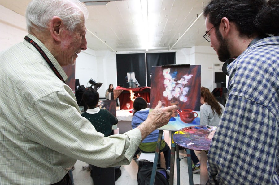 Frank Lanza Retires: Mentored Painting Students for Decades
