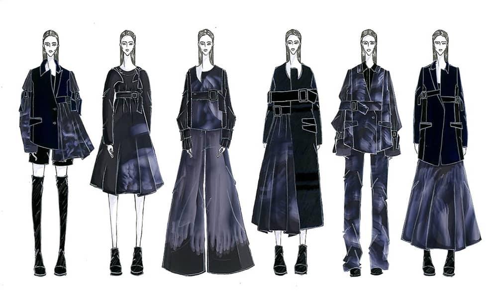 Felix Ryan BFA Fashion Design Illustrated Lineup