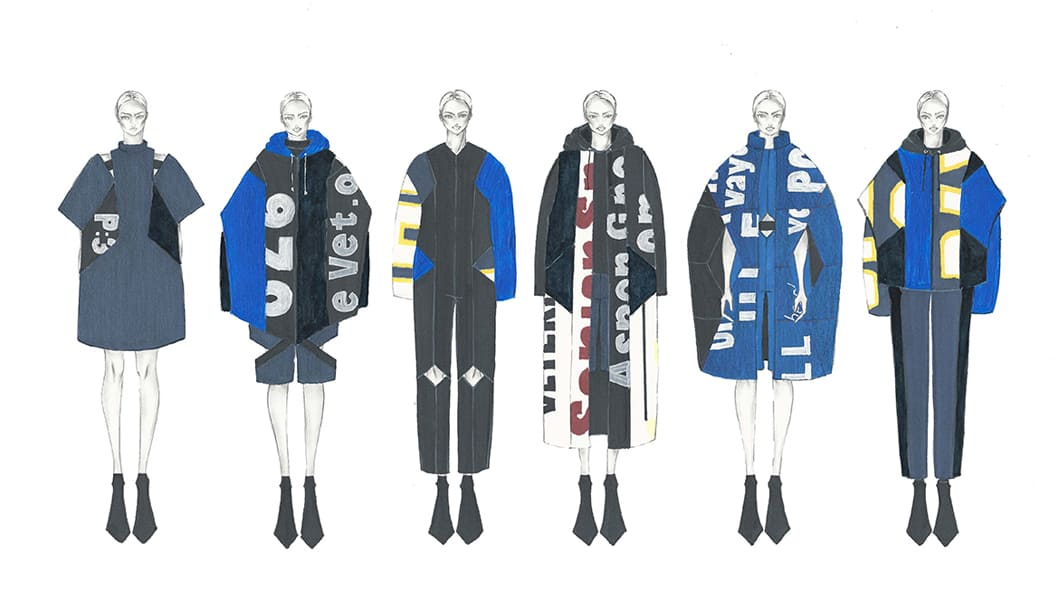 Jeannifer Tirtamarta BFA Fashion Design Illustrated Lineup