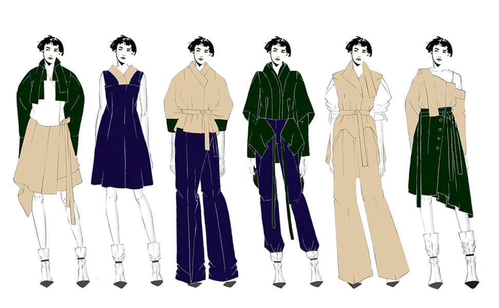 Jerry Lee BFA Fashion Design Illustrated Lineup