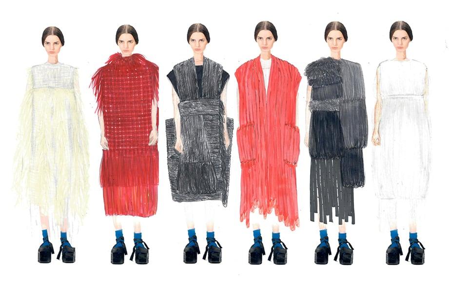 Julie Eunju Kim BFA Fashion Design Illustrated Lineup