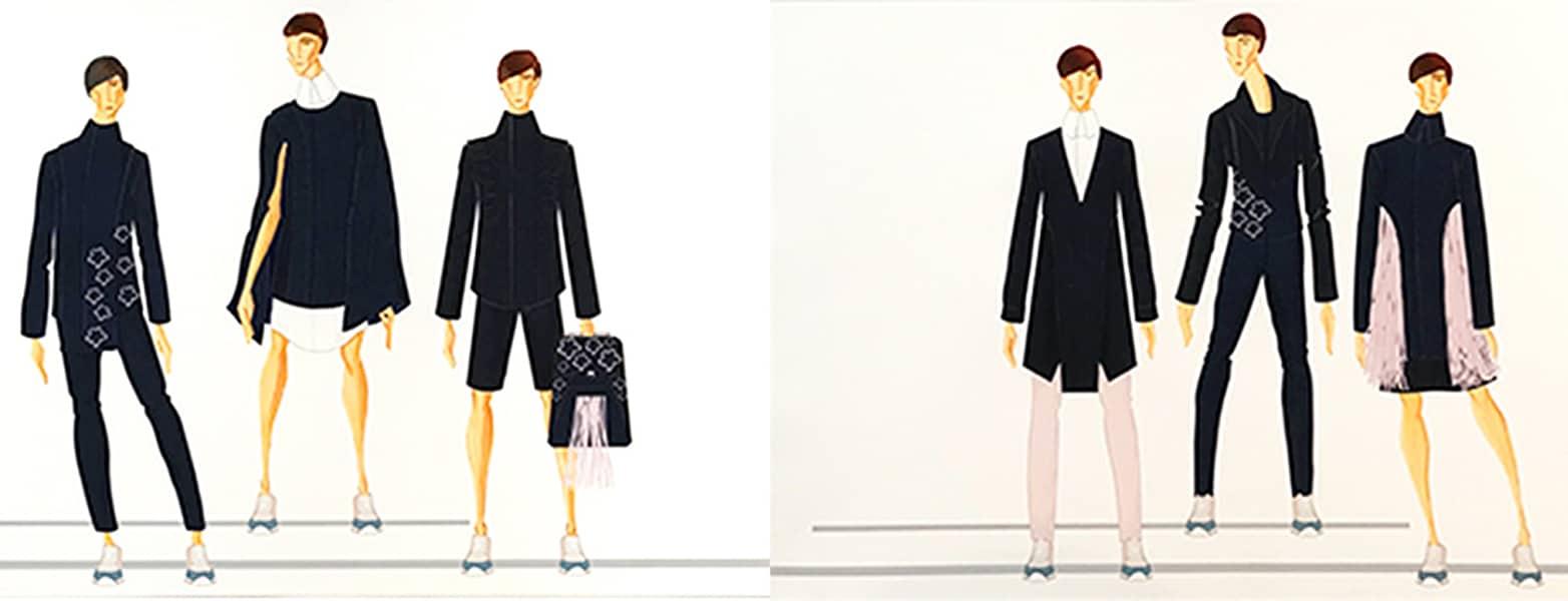 Luis Guillen BFA Fashion Design Illustrated Lineup