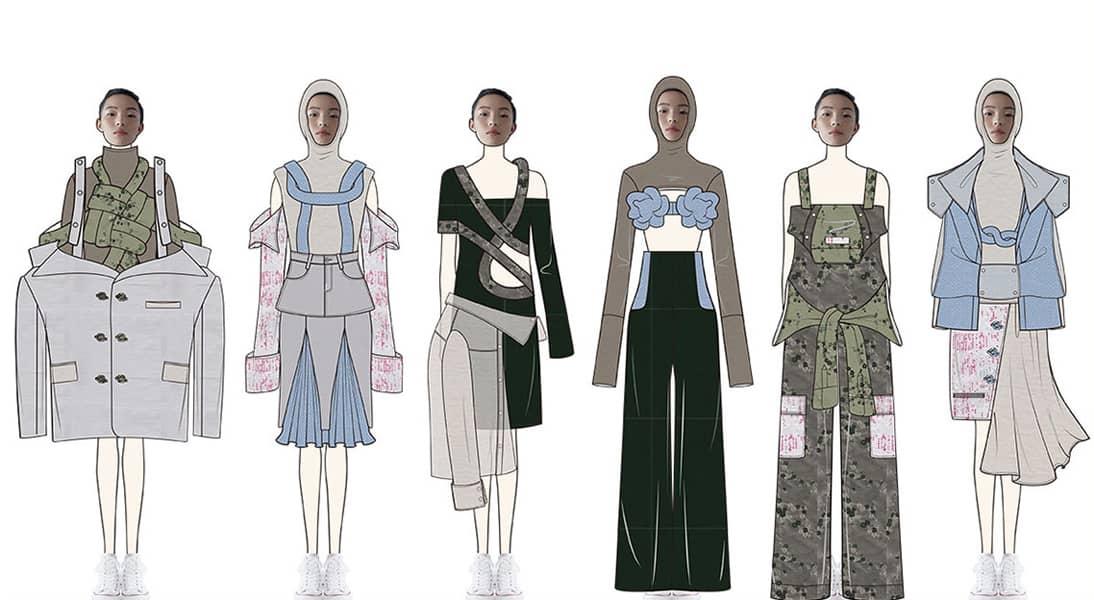Minghan Xue BFA Fashion Design Illustrated Lineup