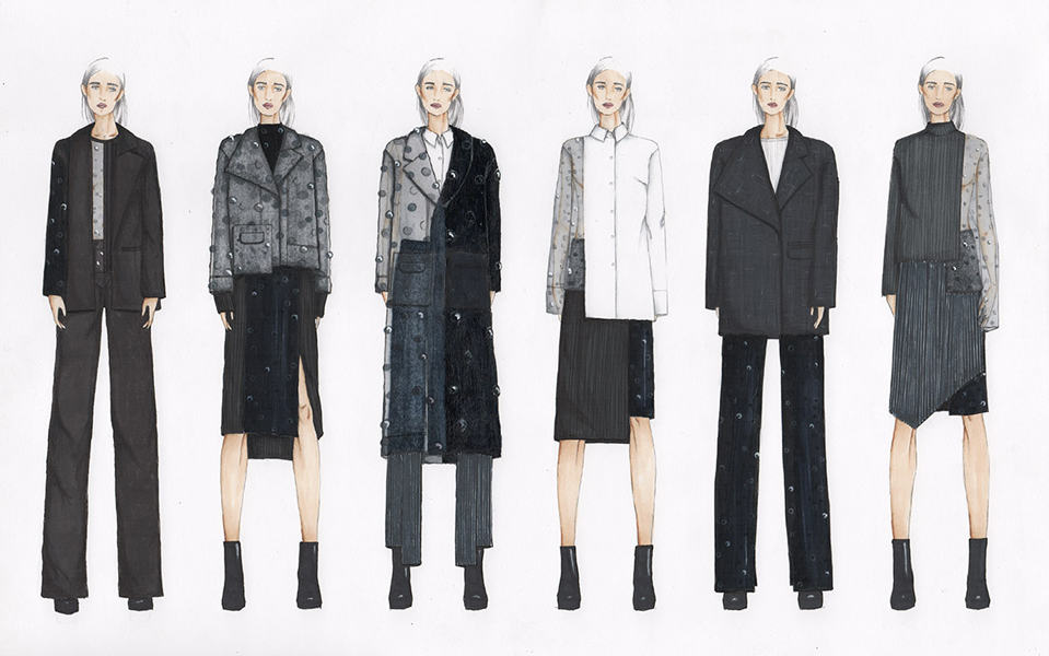 Stephanie Jessica BFA Fashion Design Illustrated Lineup