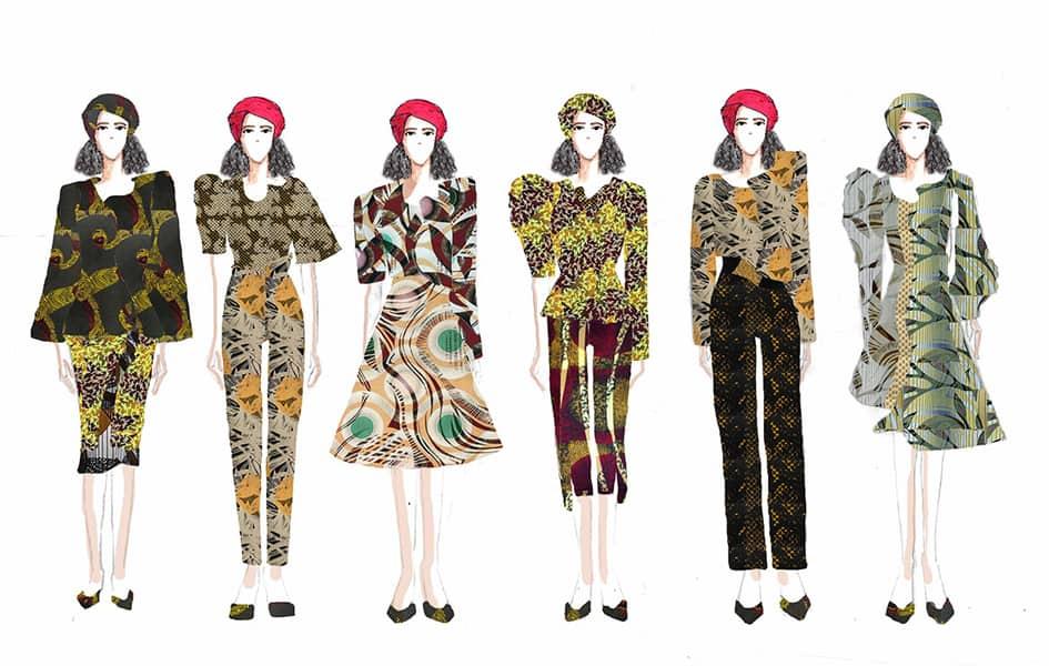 Uchechi Anigbogu BFA Fashion Design Illustrated Lineup
