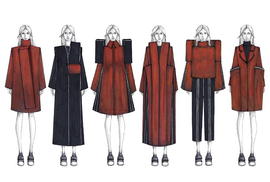 Zhouyi Li BFA Fashion Design Illustrated Lineup