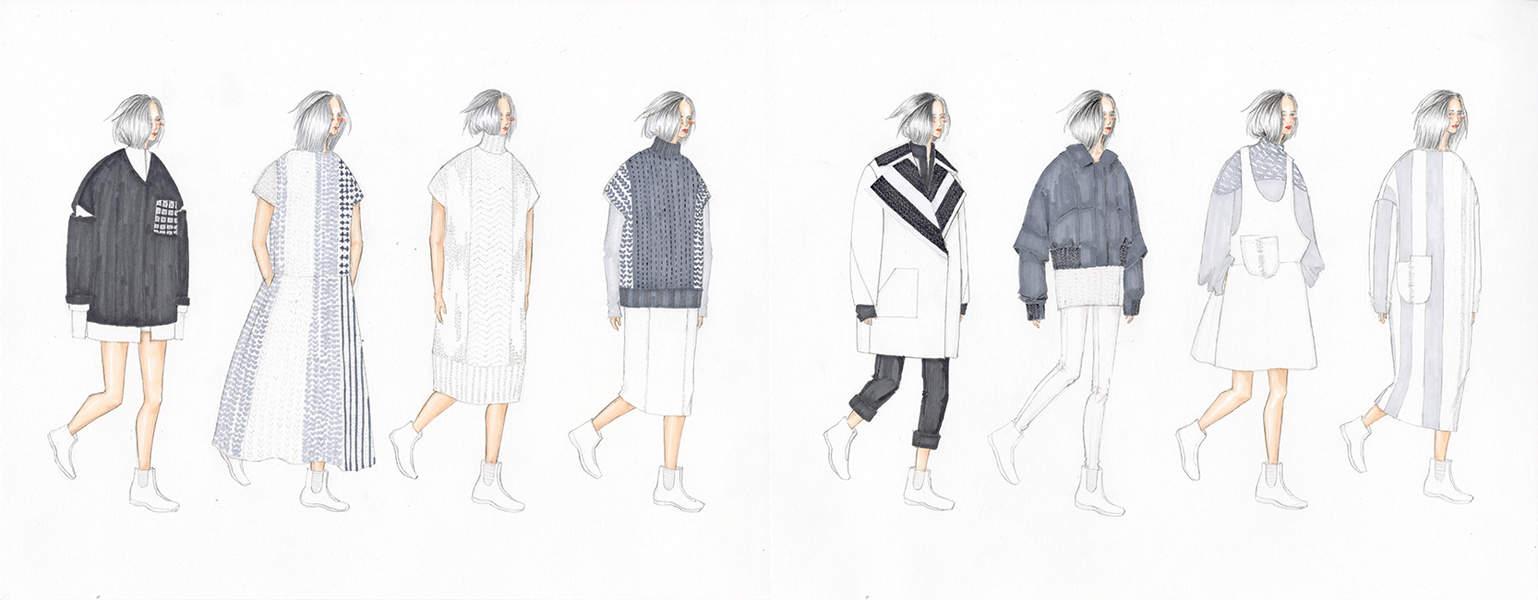 Zixuan Stella Quan BFA Fashion Design and Lulu Hu Ju Tsai BFA Knitwear Design