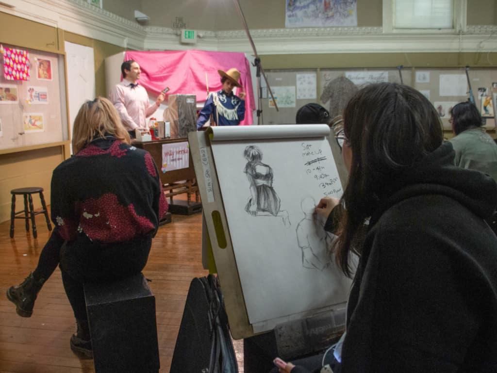 Illustration class drawing live models