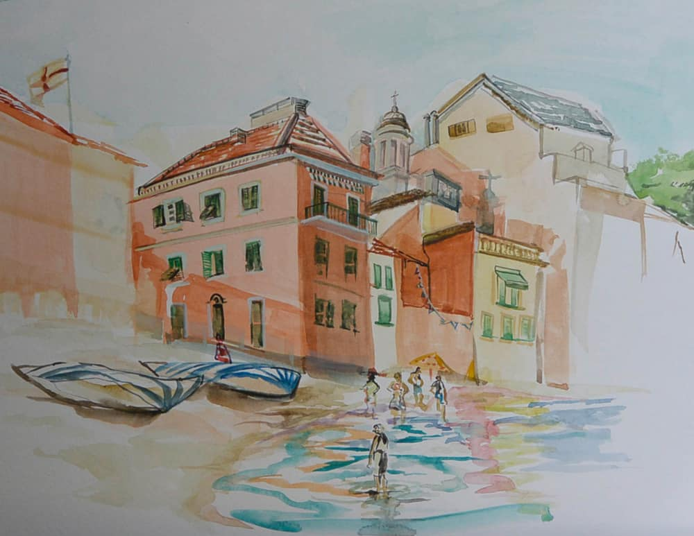 """""""Sestri Levanti 3,"""" by Carol Nunnelly, watercolor on paper"""